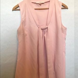 Poema Blush Blouse with Tie